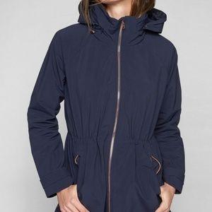 Athleta Misty Jacket In Blue Rose Gold Zipper